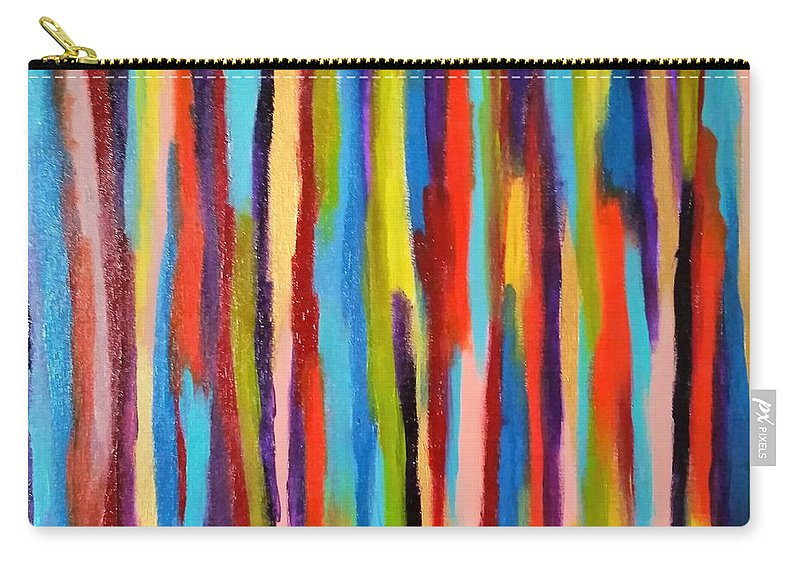 Abstract Carry-all Pouch featuring the painting Crayons by Danusha Grigar