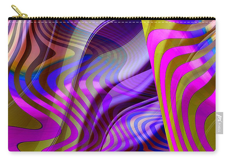 ruth Palmer Carry-all Pouch featuring the digital art Crazy Busy by Ruth Palmer