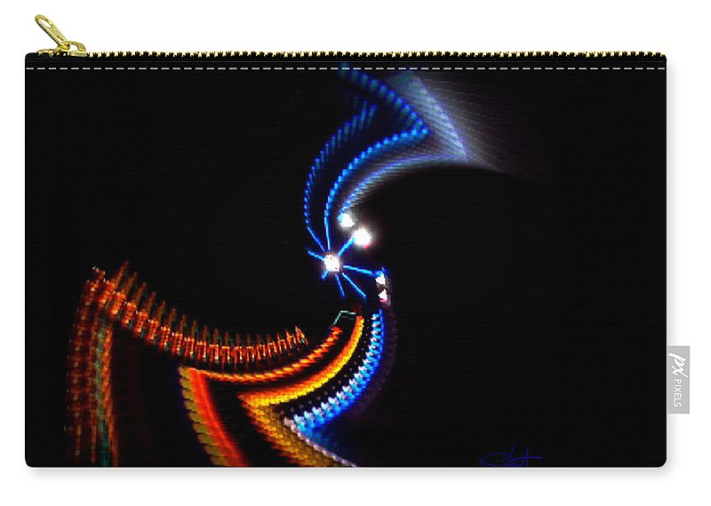 Chaos Carry-all Pouch featuring the photograph Crazy Dancer by Charles Stuart