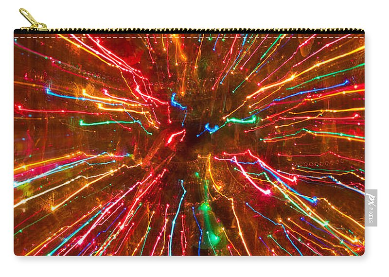 Abstract Carry-all Pouch featuring the photograph Crazy Fun Colorful Abstract by James BO Insogna