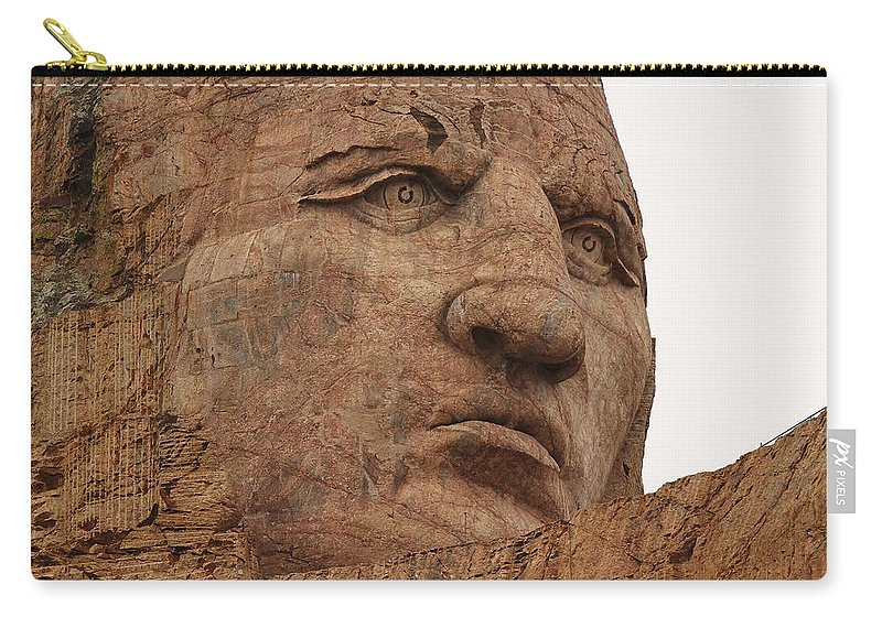 Crazy Horse Carry-all Pouch featuring the photograph Crazy Horse by Christopher Miles Carter