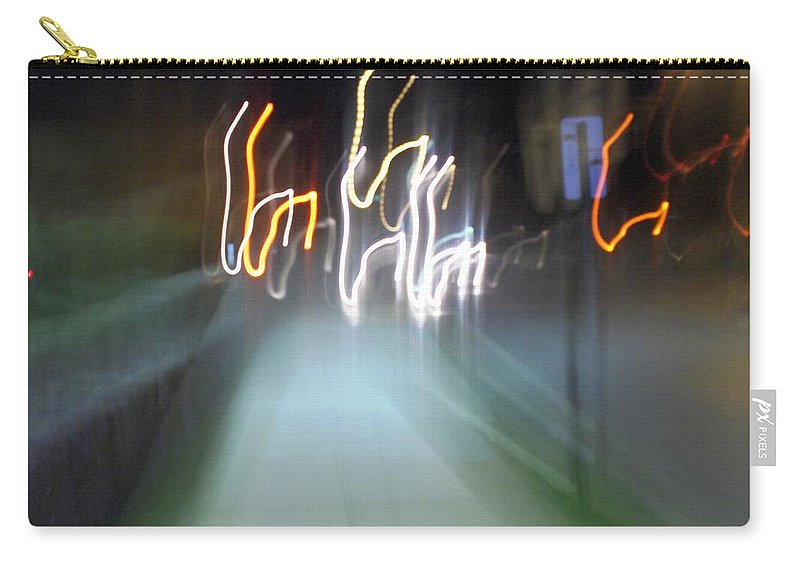 Photograph Carry-all Pouch featuring the photograph Crazy Lights by Thomas Valentine