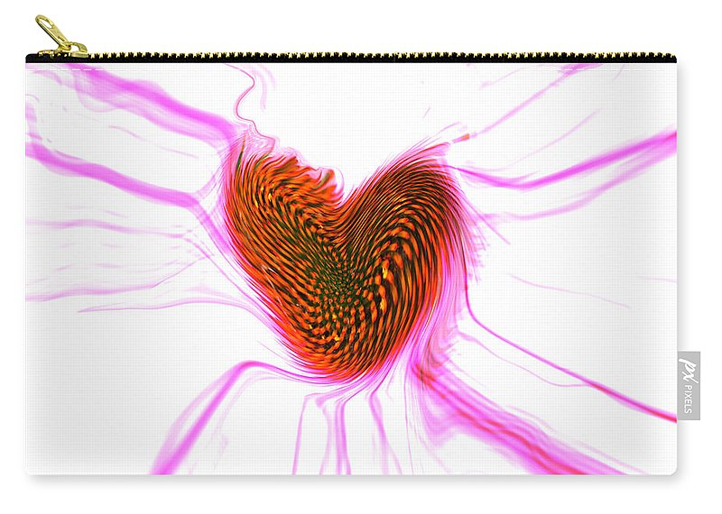 Abstract Art Carry-all Pouch featuring the digital art Crazy Love by Linda Sannuti