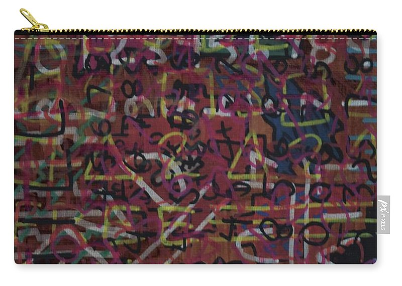 Numbers Carry-all Pouch featuring the painting Crazynumbers by Aj Watson