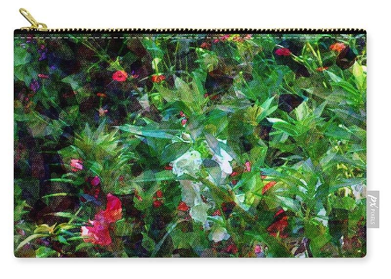 Garden Carry-all Pouch featuring the digital art Crazyquilt Garden by RC DeWinter