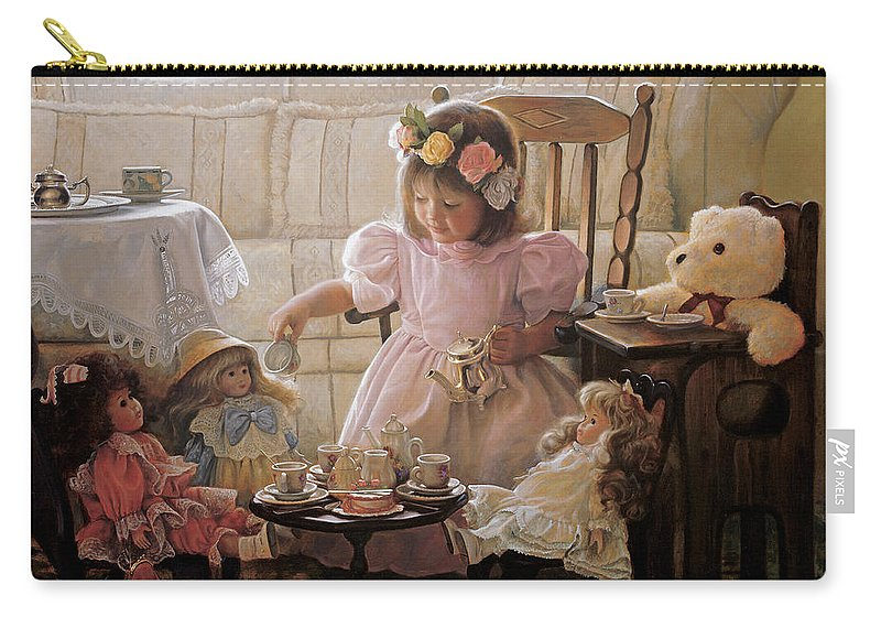 Girl Carry-all Pouch featuring the painting Cream and Sugar by Greg Olsen