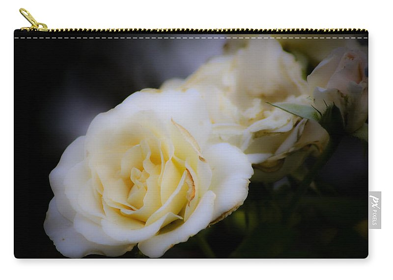 Rose Carry-all Pouch featuring the photograph Creamy Dreamy Rose by Teresa Mucha
