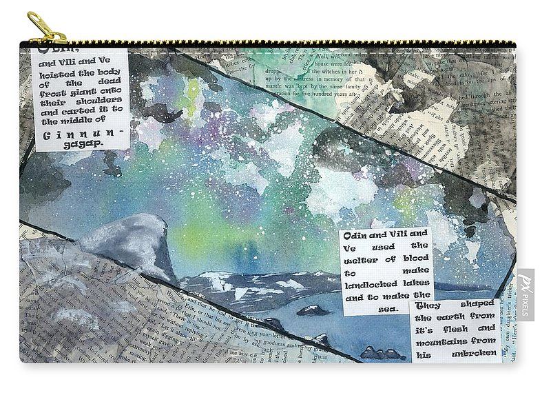 Thor Carry-all Pouch featuring the painting Creation II by Matthew Dudley