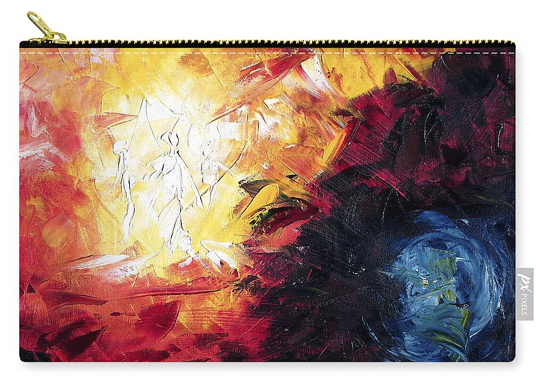 Abstract Carry-all Pouch featuring the painting Creation by Lewis Bowman