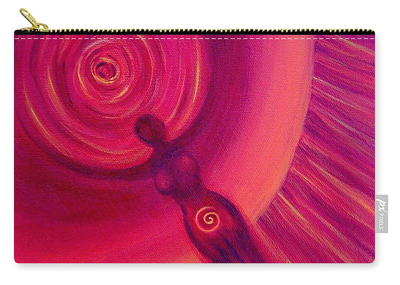 Original Carry-all Pouch featuring the painting Creativity by Melissa Joyfully