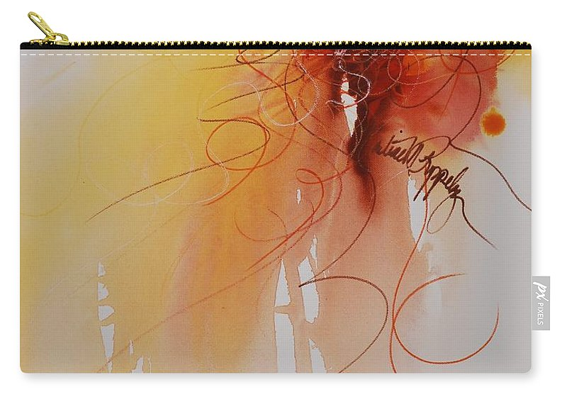 Creativity Carry-all Pouch featuring the painting Creativity by Nadine Rippelmeyer