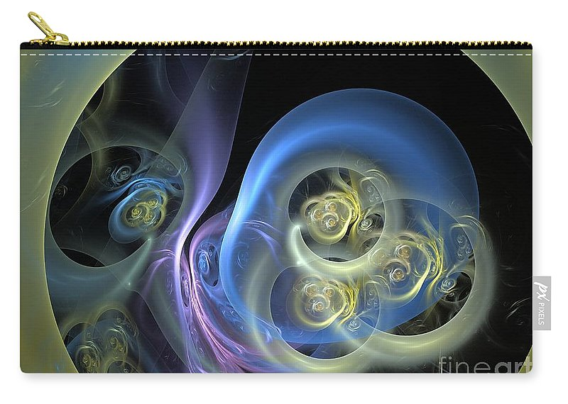 Apophysis Carry-all Pouch featuring the digital art Creatures From Beneath by Deborah Benoit