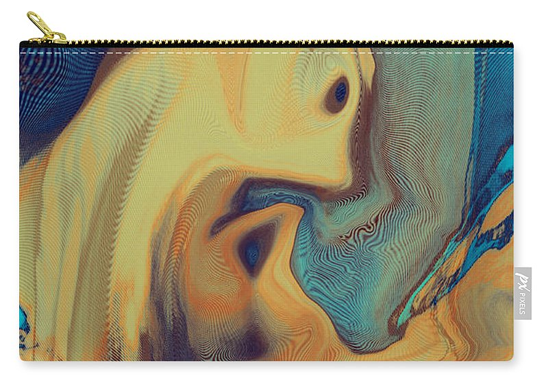 Abstract Art Carry-all Pouch featuring the digital art Creatures by Linda Sannuti
