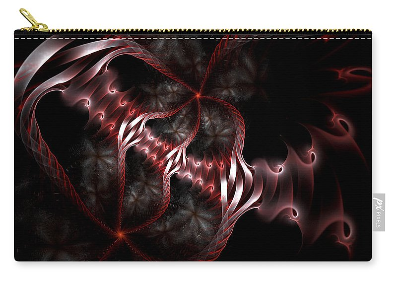 Fractal Carry-all Pouch featuring the digital art Creatures Of The Deep by Amorina Ashton