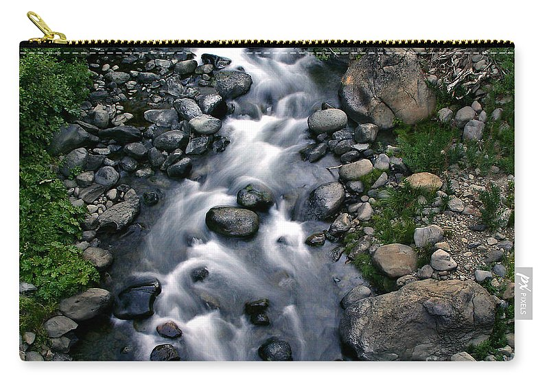 Creek Carry-all Pouch featuring the photograph Creek Flow by Peter Piatt