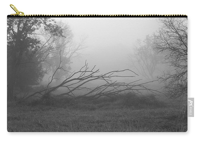 Fog Carry-all Pouch featuring the photograph Creeping Branches by Lauri Novak