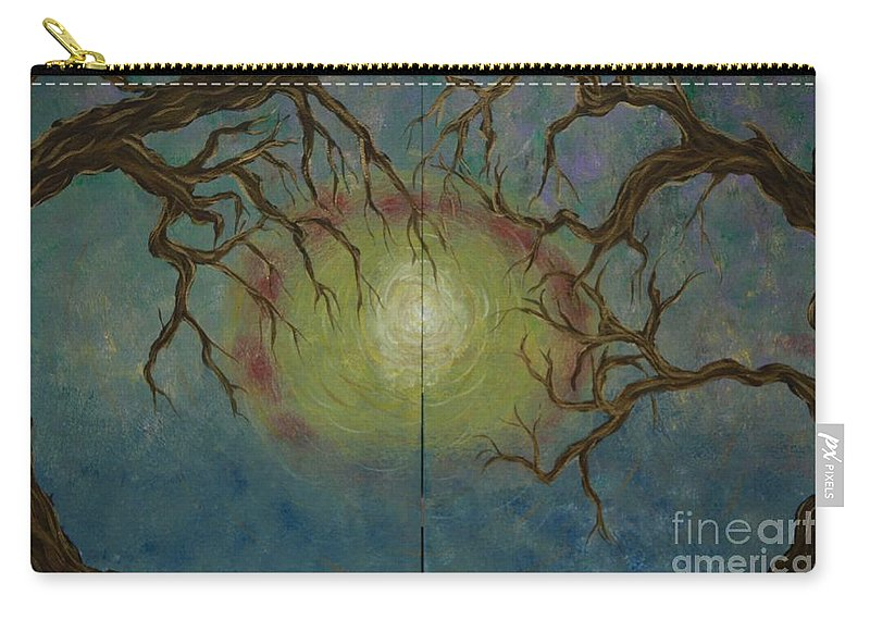 Tree Carry-all Pouch featuring the painting Creeping by Jacqueline Athmann