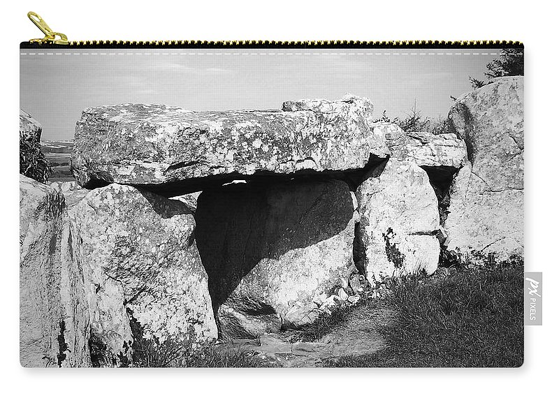 Ireland Carry-all Pouch featuring the photograph Creevykeel Court Cairn County Sligo Ireland by Teresa Mucha