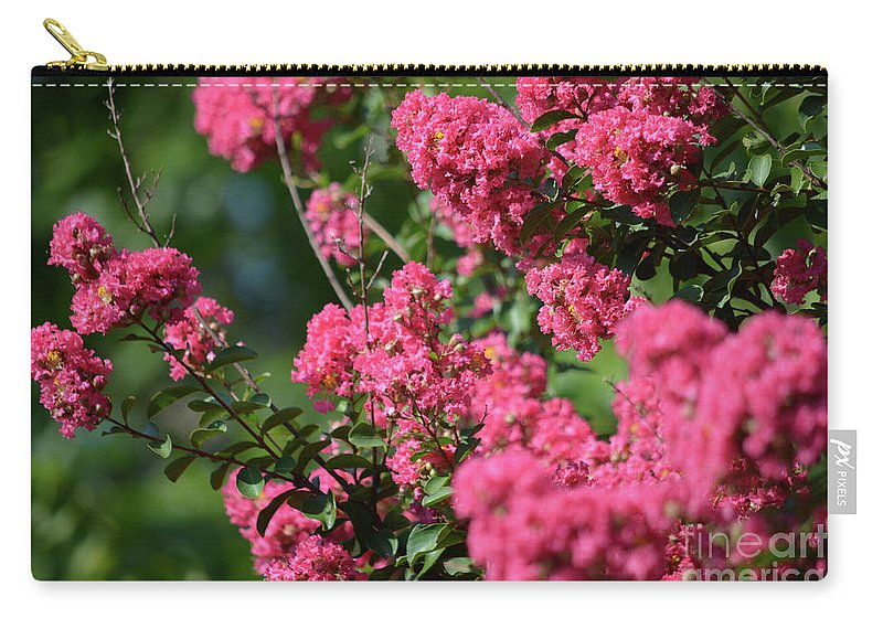 Crepe Myrtle Blossoms 2 Carry-all Pouch featuring the photograph Crepe Myrtle Blossoms 2 by Ruth Housley