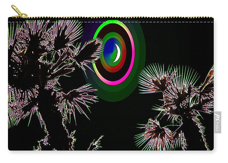 Crescent Carry-all Pouch featuring the photograph Crescent And Palms 3 by Tim Allen