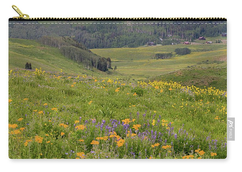Crested Butte Carry-all Pouch featuring the photograph Crested Butte Valley by Meagan Watson