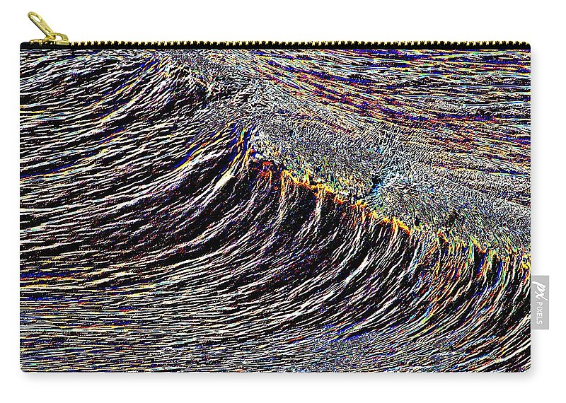 Waves Carry-all Pouch featuring the photograph Cresting by Tim Allen