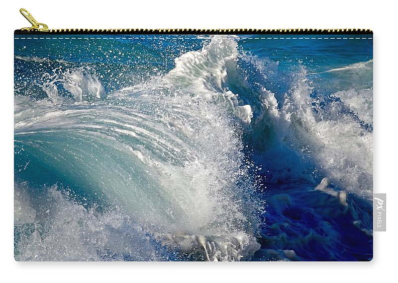 Wave Carry-all Pouch featuring the photograph Cresting Wave by Debra Banks
