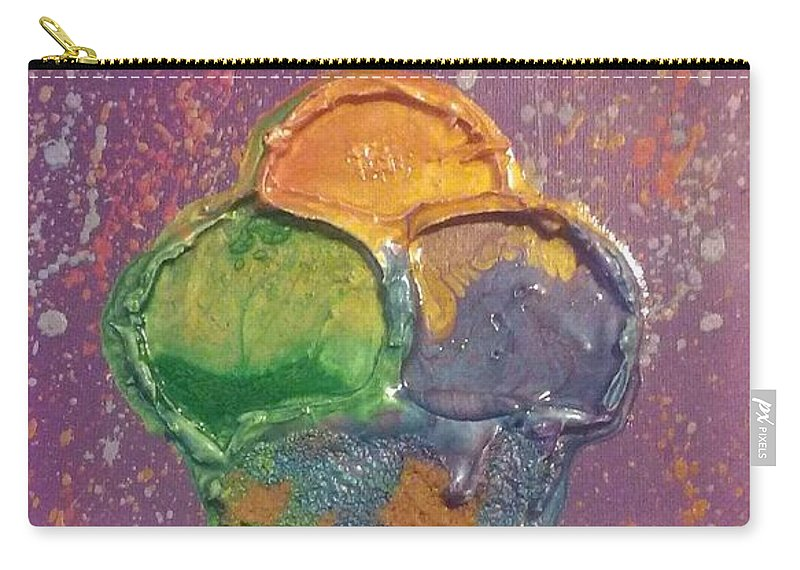 Candy Art Carry-all Pouch featuring the mixed media Crill's Ice C.r.e.a.m. by Chris Lewis