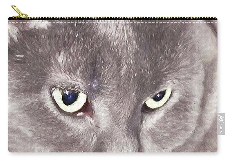 Cat Carry-all Pouch featuring the digital art Crimson Dreams by Ulanawa Foote