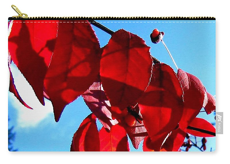 Autumn Carry-all Pouch featuring the photograph Crimson Hill by Will Borden