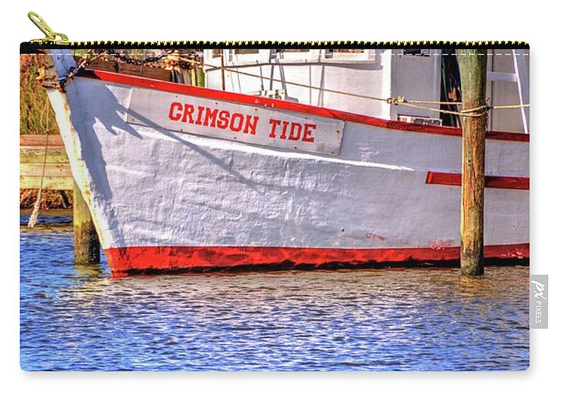Crimson Carry-all Pouch featuring the photograph Crimson Tide by Paul Lindner