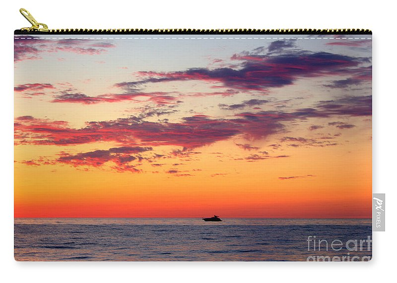 Yachting Carry-all Pouch featuring the photograph Crimson Yachting by John Scatcherd