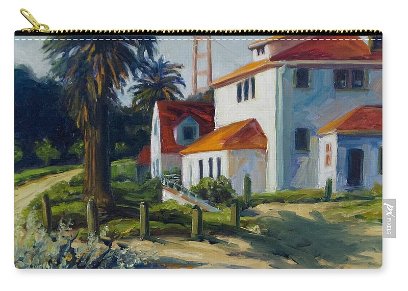 San Francisco Carry-all Pouch featuring the painting Crissy Field by Rick Nederlof