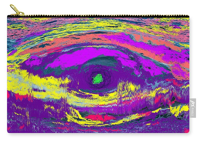 Abstract Carry-all Pouch featuring the digital art Crocodile Eye by Ian MacDonald
