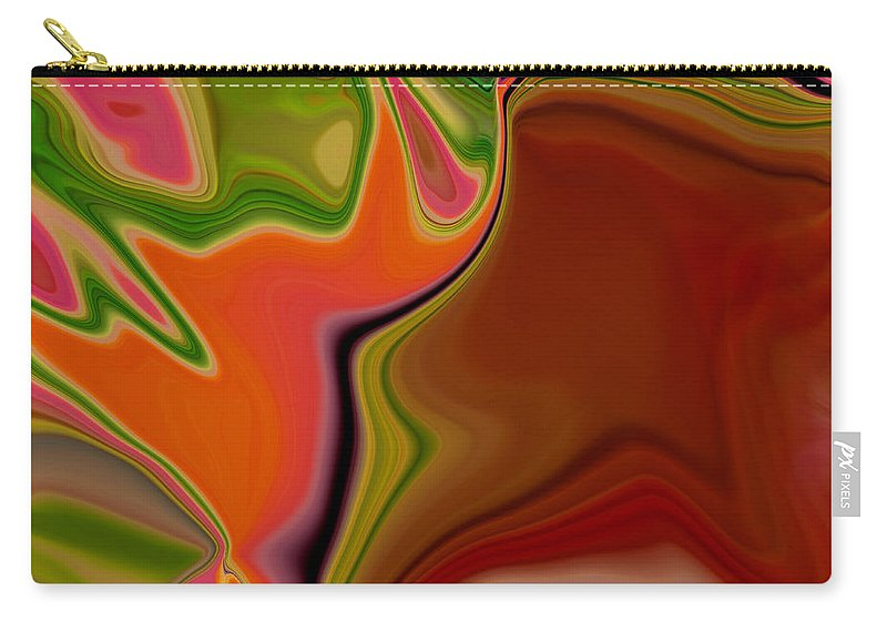 Abstract Carry-all Pouch featuring the digital art Crooked Billed Bird by Ruth Palmer