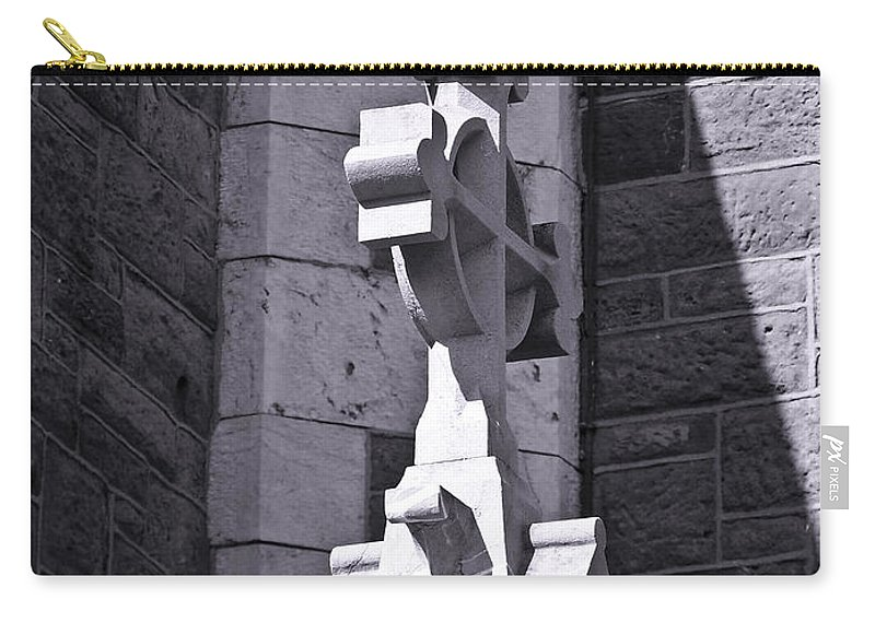 Irish Carry-all Pouch featuring the photograph Cross At St. Johns Tralee Ireland by Teresa Mucha