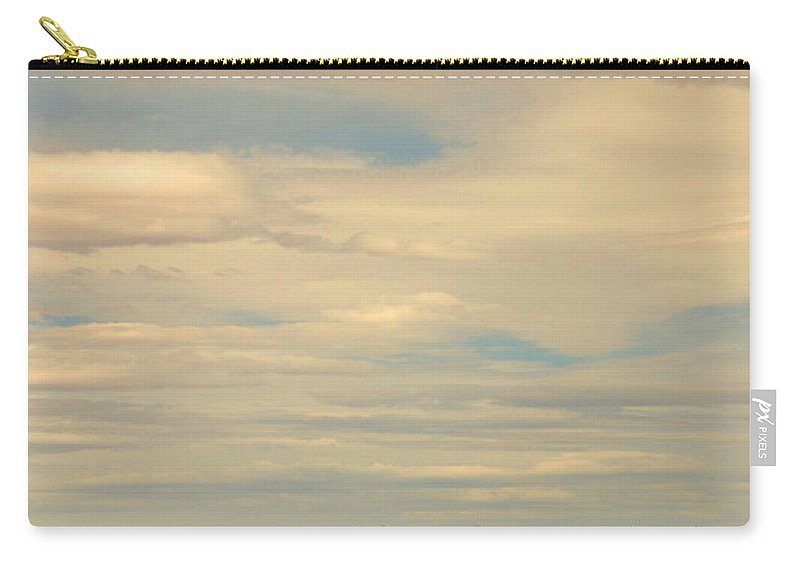 Cross Road Carry-all Pouch featuring the photograph Cross Road In New Mexico by Susanne Van Hulst