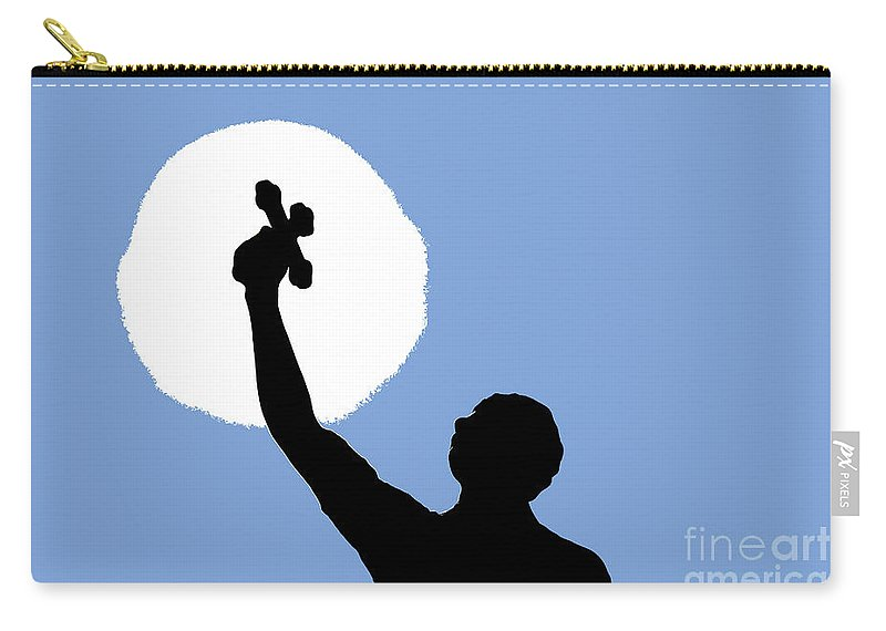 Cross Carry-all Pouch featuring the photograph Cross Sky by David Lee Thompson