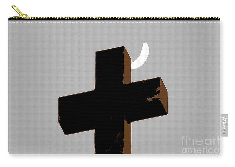 Cross Carry-all Pouch featuring the painting Cross The Moon by David Lee Thompson