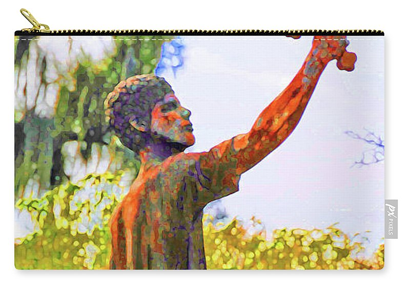 Greek Carry-all Pouch featuring the photograph Cross To The Sky by Jost Houk