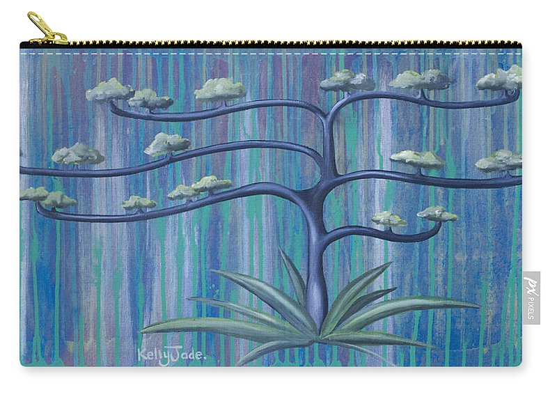 Tree Carry-all Pouch featuring the painting Cross Tree by Kelly Jade King