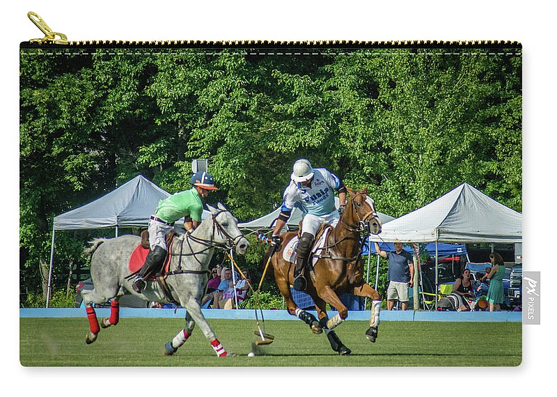Banbury Cross Carry-all Pouch featuring the photograph Crossed Clubs by Sarah M Taylor