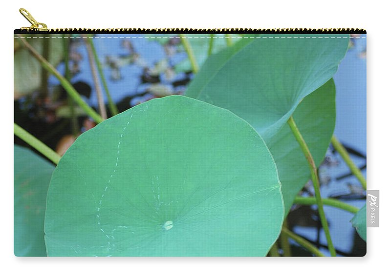 Carry-all Pouch featuring the photograph Crossing The Lily Pond Outback Nubmer Two Square by Heather Kirk