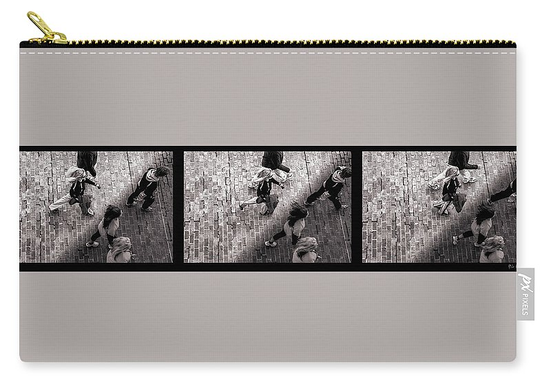 People Carry-all Pouch featuring the photograph Crossing The Shadow Line by Bob Orsillo
