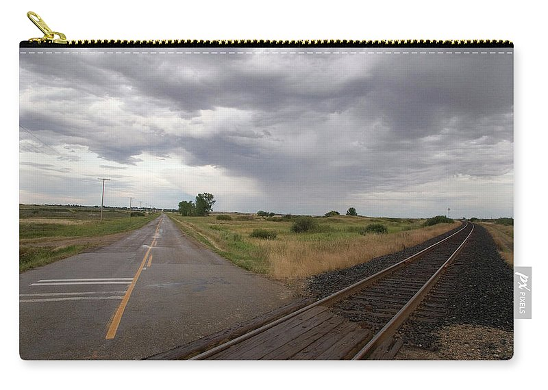 Landscape Carry-all Pouch featuring the photograph Crossroads by Deanna Paull