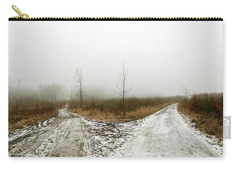 Crossroad Carry-all Pouch featuring the photograph Crossroads by Michal Boubin