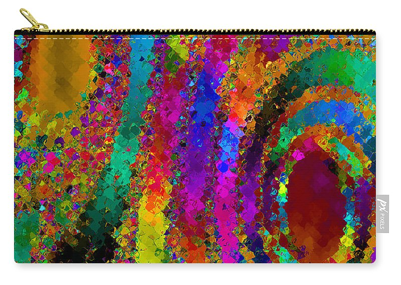 Abstract Carry-all Pouch featuring the digital art Crown Jewels by Ruth Palmer