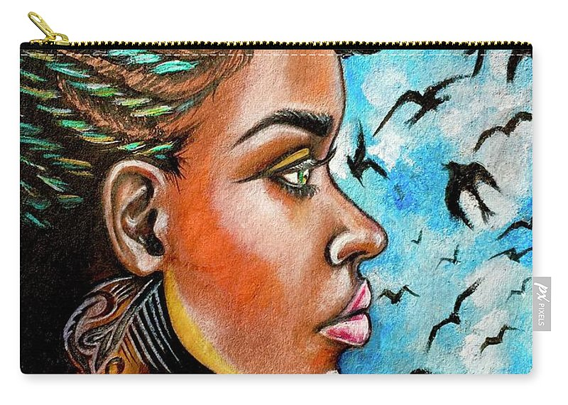 Ria Carry-all Pouch featuring the painting Crowned Royal by Artist RiA