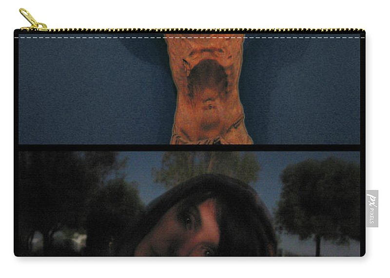 Crucifixion Carry-all Pouch featuring the photograph Crucifixion by James W Johnson