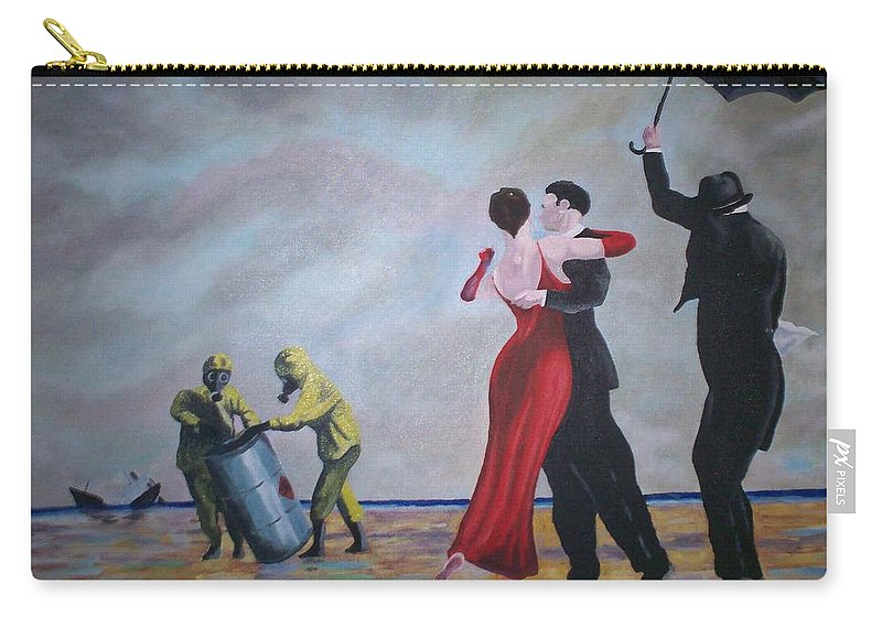 Jack Vettriano Carry-all Pouch featuring the painting Crude Oil by Gary Hogben